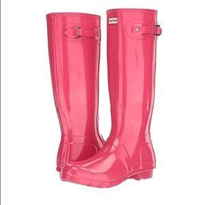 Original Gloss Pink Hunter Rain Boot